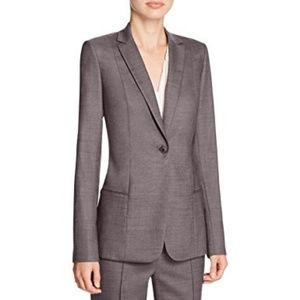 ELIE TAHARI $398 Alma one button jacket blazer 14